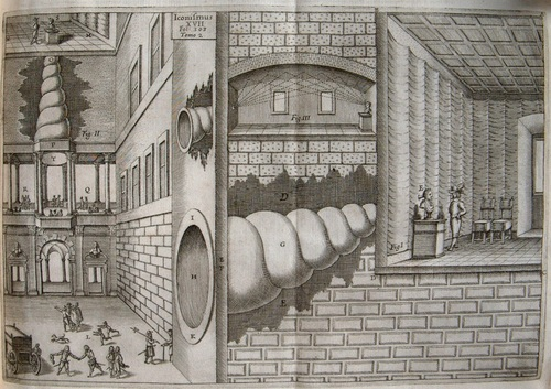 Athanasius Kircher: illustration of musical amplification