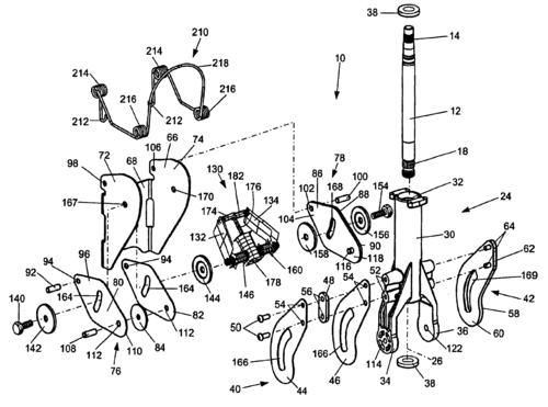 Steering column (US patent #6666478)