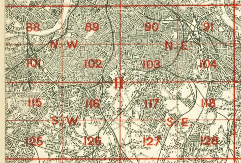 SE London map